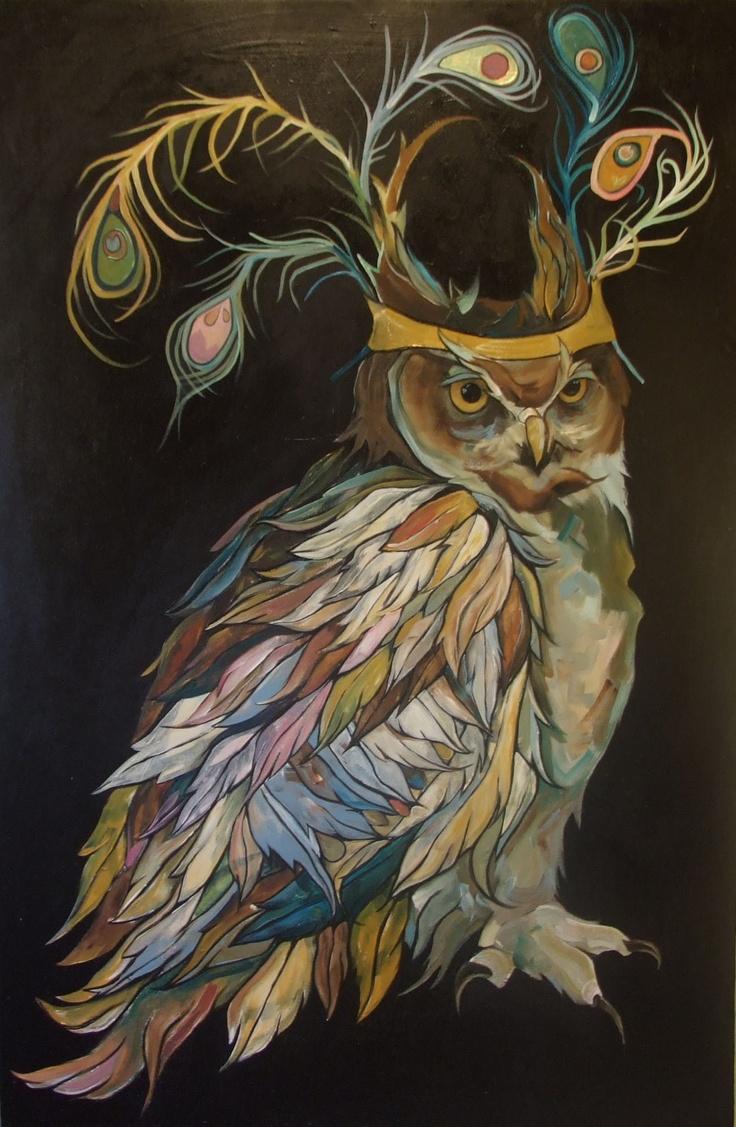 owls & peacocks. an unlikelypairing.